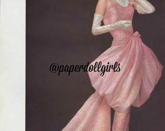 Vintage Fashion Magazine Advertisement L Officiel April 1956 Magazine Ad Givenchy Evening Gown Paris Haute Couture Wall Art
