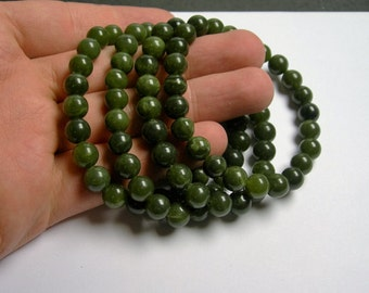 Jade - 8mm round beads - 23 beads - 1 set - A quality - HSG7