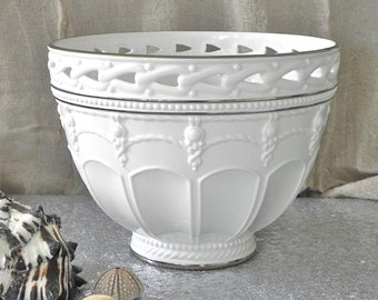 Lenox Artiste Bowl Centerpiece Bowl Fine China Bowl Home Decor White Silver Nautical Wedding Decor Serving Bowl From Country Home City Home