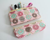 pencil pouch -- sprinkled donuts