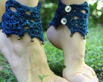 Crochet Dancing Pixie Ankle Cuffs with Brass Bells