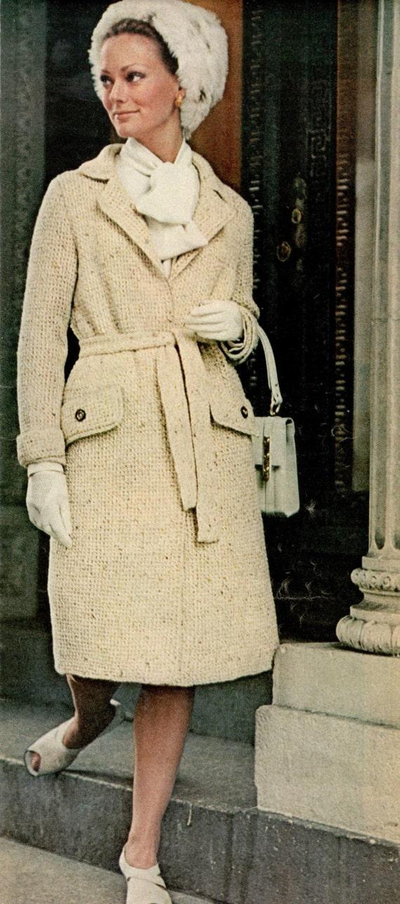 vintage knitting pattern ladies tailored tweed coat jacket