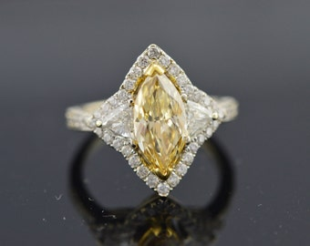 18KW 2.09ct Yellow Diamond Ring (Sized For You)