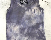 Amethyst Hand-Dyed Tank Top / Upcycled Clothing