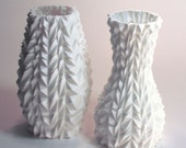 Bride and Groom vases, polygon vase, wedding gift, abstract decor, cubist art, wedding present, modernist, 3d printed vases, him and her