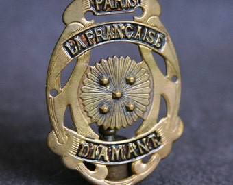 Vintage Paris La Française Diamant bike badge collector plate.