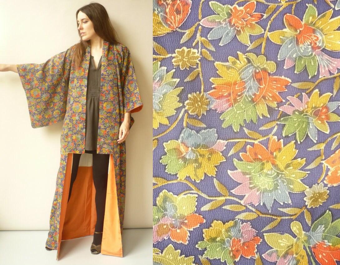 Silk Kimono Bathrobe
