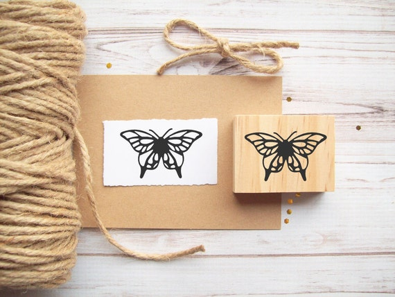 Butterfly Rubber Stamp, Weddings, Stationery, Packaging, Invitations