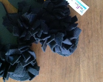 Fun Fuzzy Flip Flop  Basic Black