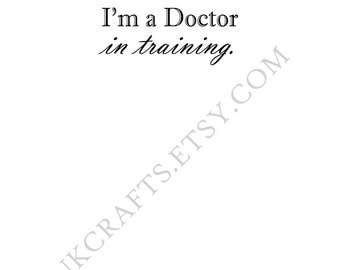 Trust Me Doctor In Training Stationery - Anatomical Medical Humor Pun Doctor Nurse Science Student Graduation Gift Printable Download