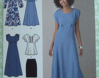 Misses Dress in Two Lengths or Tunic and Skirt Sizes 10 12 14 16 18 Simplicity Pattern 2249 UNCUT