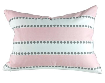 Premier Prints Lulu Stripe in Bella Storm Pillow Cover, Nursey Pillow Cover, Lumbar Pillow, Select Your Size