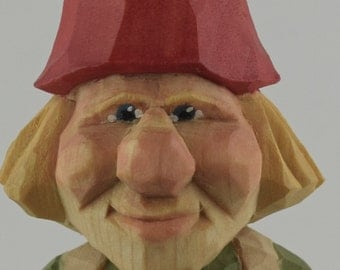 gnome, Nisse, elf, Tomte, carving, wood, statue, Nordic, Swedish