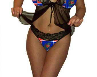 Florida Gators Lace Babydoll Negligee Lingerie Teddy Set - XL Extra Large to 2X Plus Size - PLEASE Read Sizing Info - Also in White