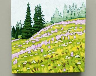 Sun Peaks Meadow - Original Acrylic Painting