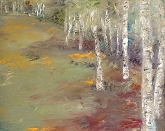 Birchfield - Original Oil Painting - 16 x 20 Oil on Canvas