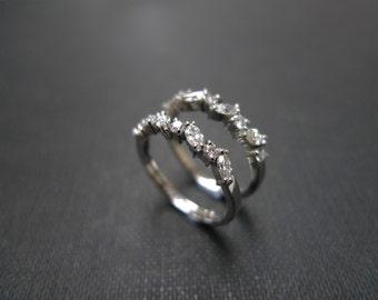 Set of 2 Marquise Diamond Wedding Set Rings Band Engagement Ring Women's Jewelry Custom Made Gift 14K White Gold / Yellow Gold / Rose Gold