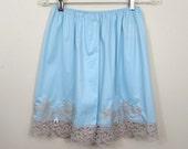 Lacy blue Pettipants Slip -NOS original labels - Sears Non Cling - 60s-70s Sz M-L