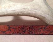 Leather mandala cuff bracelet