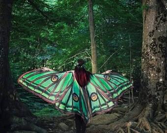 Luna Motte Kap Tanz Flügel Kostüm Erwachsene spanischen Luna Motte Cape chiffon Bauch Halloween brennenden Mann