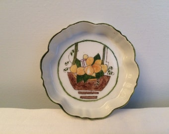 Vintage 1924 Art Deco Little Ceramic Hand Painted Dish
