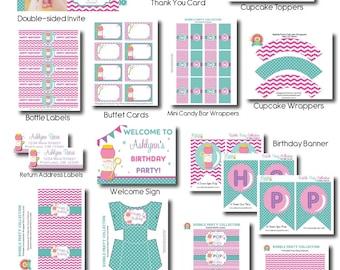Bubble Party Package - Bubble Party Invitation - Bubble Party - Bubble Party Kit - Bubble Birthday Invitation - Bubble Printables