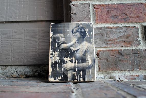Custom Transferred Photo on Reclaimed Wood