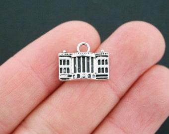 4 White House Charms Antique Silver Tone USA Capital Charm - SC5150