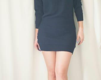 blue dolman tunic/dress/sweater small-medium