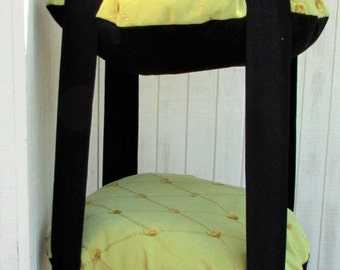 cat bed chartreuse u0026 black cat bed triple kitty cloud hanging cat bed - Cat Jungle Gym