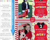 Mickey Mouse Invitation | Mickey Mouse Birthday Invitation | Mickey Mouse Printable Invitation | Mickey Photo Invite | Amandas Parties To Go