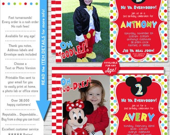 Mickey Mouse Invitation | Mickey Mouse Birthday Invitation | Mickey Mouse Printable Invitation | Mickey Photo Invite | Amandas Parties To Go
