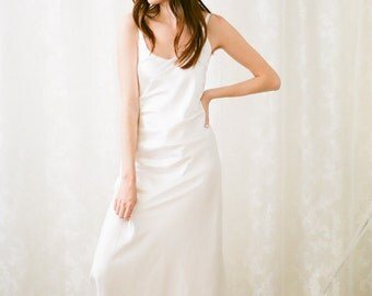 Nia Charmeuse slip dress