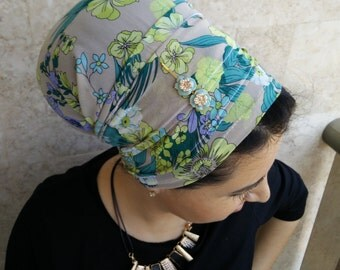elegant Tichel, Jewish tichels,head coverings,hair scarves,hair wraps,wrap around and tie in the back, by oshratdesignz