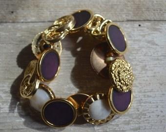 Egypt Button Bracelet - Proceeds Benefit Cancer Research