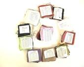 Supply - Large Lot of Vintage Fabric Swatches / Fabric Squares / Silk / Chiffon / Organza / Silk Knit / Spun Silk / Crepe / Charmeuse
