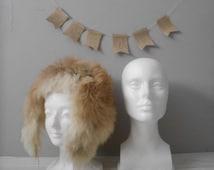 SALE / vintage white mannequin woman head / store wig display