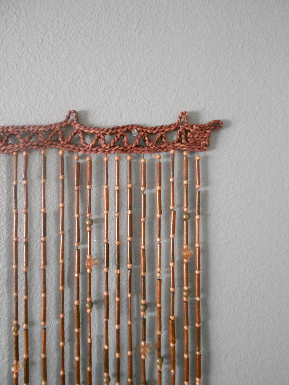 Hanging screen door curtain