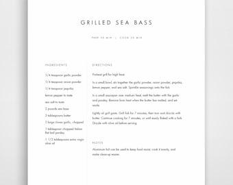 recipe list template