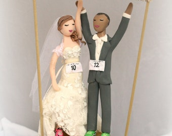 Wedding Cake Topper Customized to your features, attire, and requests