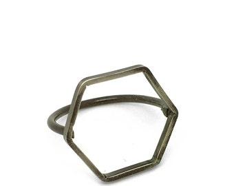 Geometric Silohette Ring