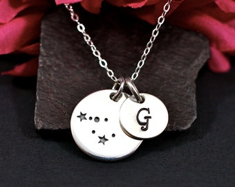 Personalized Capricorn Constellation Sterling Silver Necklace - Capricorn Necklace - Capricorn Jewelry