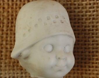Bisque Doll Head Googly Vintage German Porcelain