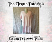 Digital Tutorial The Flying Trapeze Tunic Dress PDF Download Plus Size Lagenlook Top TUTORIAL ONLY