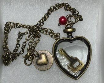 Set of 5 Bridesmaid Vintage Style Necklaces, Vintage Style Wedding, Bridesmaid Gift, Rustic Wedding Jewelry, Bridesmaid Jewelry, Wedding