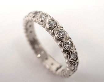 Eternity Ring, Platinum diamond Ring, Diamond Band, Eternity Ring, Platinum Eternity Band, Platinum Eternity Ring, Delicate Band, 2