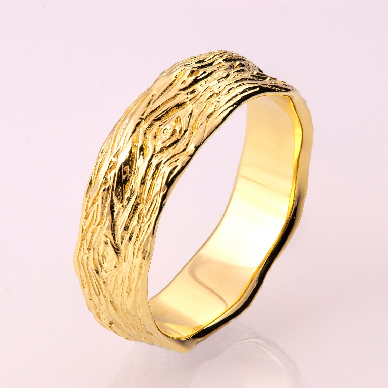 Rough Diamond Twig Ring