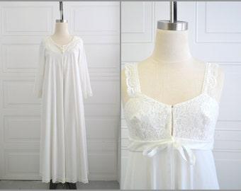 1960s White Peignoir Set