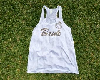 Bride shirt, Bride rhinestone shirt, Bride tank