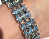 Vintage Blue Topaz Bracelet  Gemstone Bracelet Simple Jewelry RareBeauty